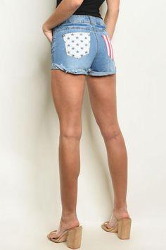 Rock America Denim Shorts $9.99
