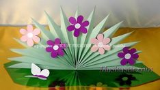 paper flower bouquet for kids Paper Crafts For Kids, Fun Crafts, Diy And Crafts, Arts And Crafts, How To Make Paper Flowers, Diy Flowers, Butterfly Crafts, Flower Crafts, Pop Up Greeting Cards