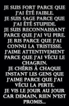 dans Chemin JE-SUIS - The Love Quotes French Words, French Quotes, Words Quotes, Love Quotes, Inspirational Quotes, Quote Citation, Celebration Quotes, Amai, Some Words