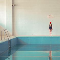 """""""Mária Švarbová finds beauty and serenity in socialist-era swimming pools,"""" CNN March In Švarbová photographed 13 pools in 13 different Slovakian cities. Willy Ronis, Pool Fotografie, Swimming Pool Photography, Pool Paint, Cut Out People, Natural Swimming Pools, Natural Pools, Luxury Pools, Dream Pools"""