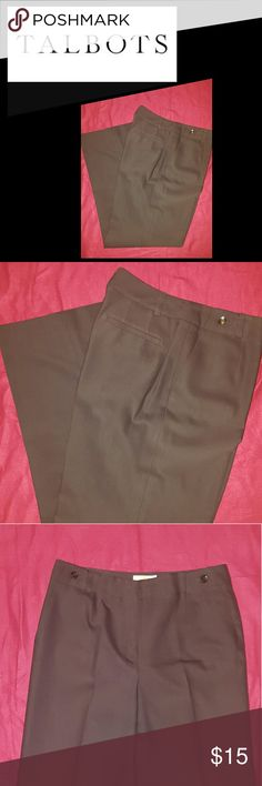 TALBOTS BROWN SILKY PANTS SZ 8. ITALIAN FABRIC. AWESOME SILKY PANTS. I HAVE A TOP ALSO LISTED THAT WOULD LOOK AWESOME TOGETHER. I WILL ACCEPT A BUNDLE OFFER FOR IT!! Talbots Pants