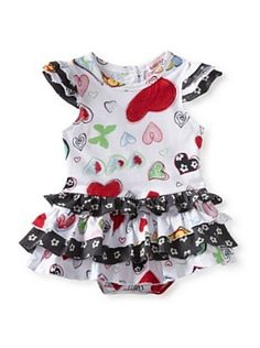 Baby Nay Overlay Bodysuit (Crayon Heart)