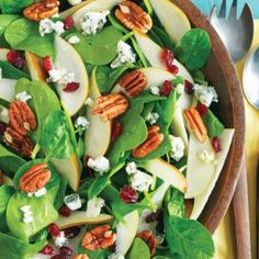 Blue Cheese Pear and Pecan Salad -  http://thegardeningcook.com/blue-cheese-pear-and-pecan-salad/