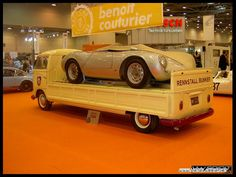 Wow!... this is one cool Kombi and check out the  Porsche on the deck! Sweet