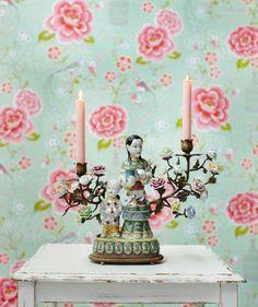 Amina | Papel pintado floral | Patrones de papel pintado | Papeles de los 70