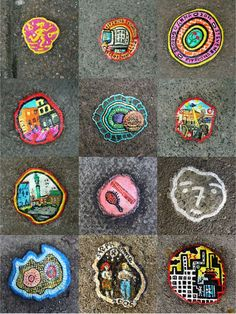 Ben Wilson, gum on pavement art Graffiti, Street Art Banksy, Land Art, Ben Wilson, Pavement Art, Colour Story, Social Art, Chewing Gum, Mini Paintings