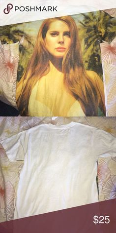 Urban outfitters Lana Del Rey paradise t shirt Paradise album cover lana del rey graphic t shirt from urban outfitters Urban Outfitters Tops
