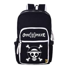 (36.95$)  Watch now - http://aicdq.worlditems.win/all/product.php?id=32612310373 - ONE PIECE Cartoon Canvas Backpack Luffy Anime School Shoulders Bag Mochila Free Shipping