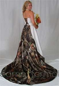 Camo Bridal and Wedding Dresses Camouflage Prom Wedding Homecoming Formals Formal Dresses For Weddings, Country Wedding Dresses, Country Weddings, Wedding Country, Outdoor Weddings, Mossy Oak Wedding, Camo Formal, Formal Wear, Wedding Ideas
