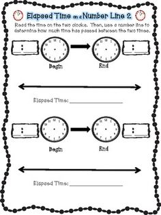 Elapsed Time: One Hour Later | Worksheet | Education.com