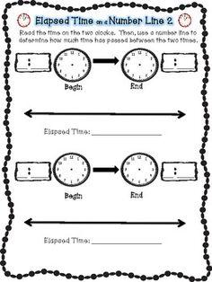 Elapsed time | Math | Pinterest | Elapsed time, Free printable ...