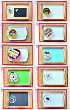 Montessori Toddler Art Activities to Rotate at How we - Easy Pin Montessori Trays, Montessori Playroom, Montessori Elementary, Montessori Toddler, Montessori Activities, Toddler Art, Toddler Crafts, Diy Pour Enfants, Art Activities For Toddlers