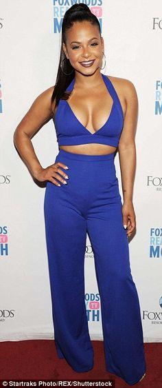 Christina Milian sizzles at casino party | Daily Mail Online