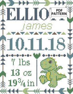 Cross Stitch Pattern Maker, Baby Cross Stitch Patterns, Cross Stitch Baby, Modern Cross Stitch, Cross Stitch Designs, Cross Stitch Letters, Cross Stitch Samplers, Counted Cross Stitch Patterns, Cross Stitching