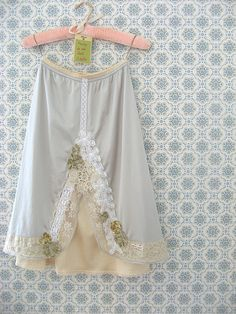 a fine and dandy slip. - half slip or petticoat Dottie Angel, Vintage Nightgown, Granny Chic, Mori Girl, Diy Clothing, Refashion, Fashion Outfits, Womens Fashion, Fashion Beauty