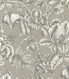 "Swavelle Millcreek Print Fabric 54"" - Perdido Paramount Graphite"