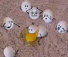 Egg crime scene