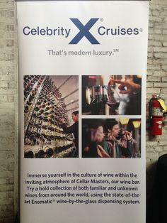 Celebrity Cruises's roll up banner