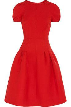 Valentino Silk and wool-blend dress.  Gotta love the color!