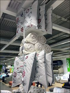 IKEA Ceiling Comforters and Pillow Overall