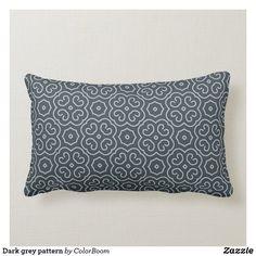 Dark grey pattern lumbar pillow Lumbar Pillow, Throw Pillows, Grey Home Decor, Grey Cushions, Grey Pattern, Decorative Cushions, Custom Pillows, Dark Grey, Charcoal