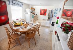 The light and colourful kitchen-dining room area at the beautifully furnished Abigail's Cottage in Northam, North Devon. http://www.abigailscottage.co.uk