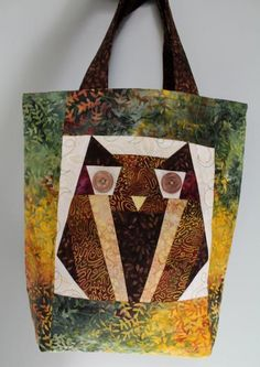 Paper Pieced Owl Bag PDF Pattern from Candy Corner Quilting Owl Patterns, Quilt Block Patterns, Pattern Blocks, Quilt Blocks, Sewing Patterns, Quilting Projects, Sewing Projects, Sewing Tutorials, Owl Quilts