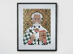 Coated paper Poster SAINT PATRICK by TuttiSanti design FF3300 - Visual arts