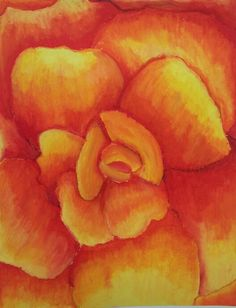 Art Ed Central Wooley 7th O'Keeffe oil pastel