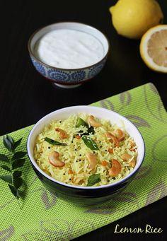 Lemon rice recipe video - How to make south indian lemon rice recipe