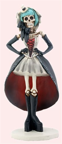 Day of the Dead Gifts - Collectible DOD Gothic Girl Skeleton Statue Desktop Figurine $22.95