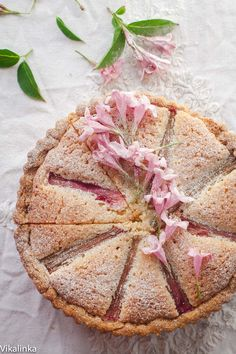 Roasted Rhubarb Bakewell Tart