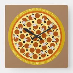 Custom Text Pizza Delivery Box   Father's Day 2020 Square Wall Clock  creative fathers day gifts from kids, dad gifts christmas, mothers day gifts for kids #blingwineglass #stayfocused #stayup Preschool Fathers Day Gifts, Fathers Day Poems, Easy Fathers Day Craft, Homemade Fathers Day Gifts, First Fathers Day Gifts, Diy Father's Day Gifts, Father's Day Diy, Gifts For Kids, Dad Valentine