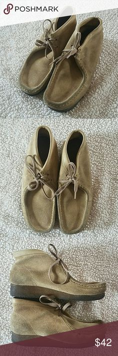 Clark's Wallabees • Clark's Wallabees  • Maple suede leather upper with a gum sole/ 7.5 in men's, but would fit roughly a 9 in women's • Gently used condition - price reflects this/ no holes or major flaws  • Smoke free home  • Make an offer! Clark's  Shoes