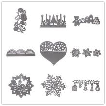 9 Styles Metal Steel Snowflake Heart Cutting Dies Stencil For DIY Scrapbooking Album Paper Card Photo Decorative Craft Hot Sales(China (Mainland))