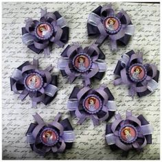 "Birthday Party Favors Small 3"" Bows Sofia the First Princess by #LaPrincesseBows Sophia the 1st"