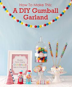 What's hotter than candy buffets right now? DIY garlands!  Okay, they're both equally hot so it only makes sense to combine these two sizzling ingredients