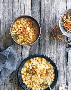 Tagliatelle with chickpeas