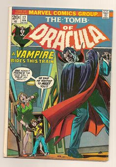 The Tomb of Dracula Vol. 1 No. 17 Marvel Comic by SalvagedOddities, $5.00