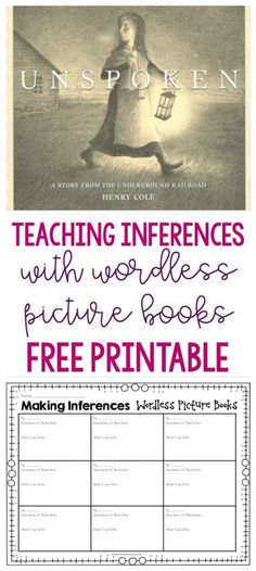 Inferences Use wordless picture books to teach students how to make inferences.Use wordless picture books to teach students how to make inferences. Library Lessons, Reading Lessons, Reading Strategies, Reading Skills, Teaching Reading, Reading Comprehension, Reading Books, Guided Reading, Comprehension Strategies