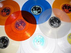 Colored, translucent vinyl is the best!