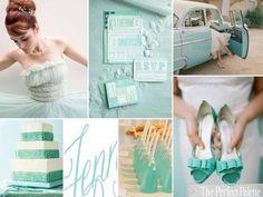 {Something Borrowed, Something Blue}: A Palette of Tiffany Blue, Aqua   White