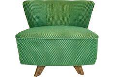 Barrel-Shaped Swivel Chair on OneKingsLane.com