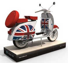 Vespa 150 Scooter Papercraft