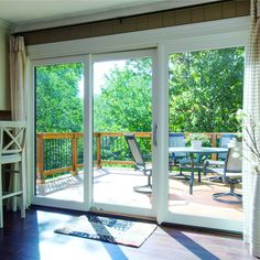 Pella Lifestyle Series sliding patio doors are designed to fit your life, room by room. With easy operation and some of the most desired features and options, sliding patio doors meet the unique needs of your home. Sliding French Doors, French Doors Patio, Sliding Glass Doors, Double Sliding Patio Doors, House Windows, Windows And Doors, Pella Windows, Patio Door Shutters, Door Curtains