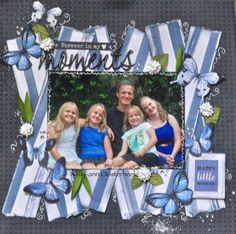 A Layout by Kelly-ann Oosterbeek made using the Indigo Skies Collection from Kaisercraft and Imaginarium Designs Chipboard www.kellyanno.com