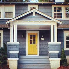 Blue Gray House Paint My Future Colr Of My House Lol I Think I Would Paint The Doors Dark Red