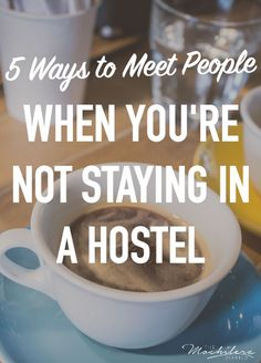 When traveling solo, it can be difficult to meet people if you're not staying in a social environment like a youth hostel.  Here are my best tips for being social when staying on your own.