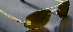 Luxuriator Canary Diamond Glasses 1