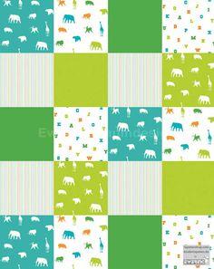 Kinderbilder fürs kinderzimmer giraffe  Tapetenbuchstabe A Punkte grün | PS